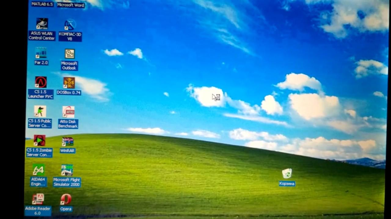 Windows XP на старом ноутбуке Toshiba 1998 года