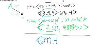 Vector airplane problem 2