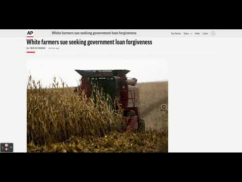 White farmers sue to take loans from disadvantage farmers