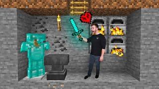 I Made A HARDCORE Underground Armory in Minecraft!
