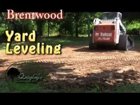 Brentwood Yard Leveling And Grading By Quigleys Landscaping And