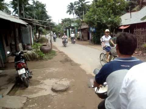 Moto ride through Ben Tre Island - Vietnam - Sandra and Boris