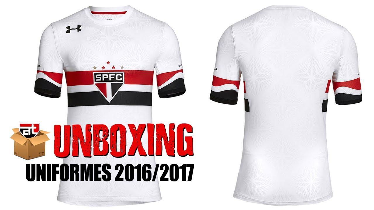2d1dab9c99b Unboxing - Novos uniformes São Paulo FC 2016 2017 Under Armour - YouTube