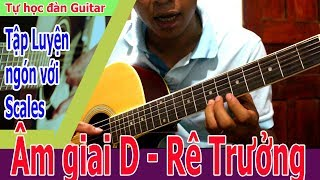 Tự Học Đàn Guitar: Luyện ngón trong guitar với Âm Giai D [ Rê Trưởng ]