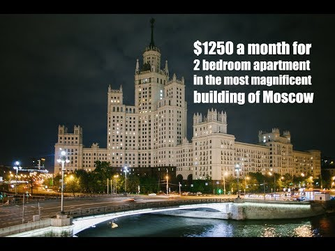 Rents starts here for  just $1250 a month.  Kremlin, Moscow is 5 minutes walk.