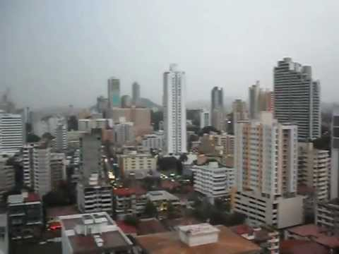 Ciudad Panama City 360 degree view from Penthouse