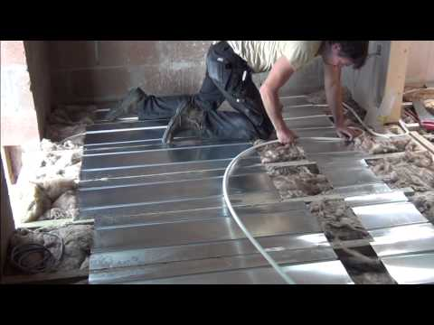 Underfloor Heating System on Suspended Floor using Aluminium Spreader Plates