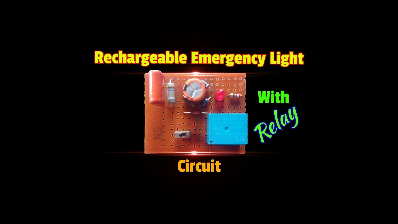 How To Make A Powerful Rechargeable Emergency Light Circuitsimple Simple Battery Charger Circuit