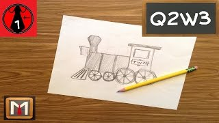 How to Draw a Train Engine
