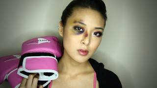 Boxer Girl Bruised Eye Halloween Tutorial