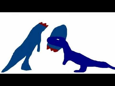 MDF-Piatnitzkysaurus vs Aucasaurus Dino Fights