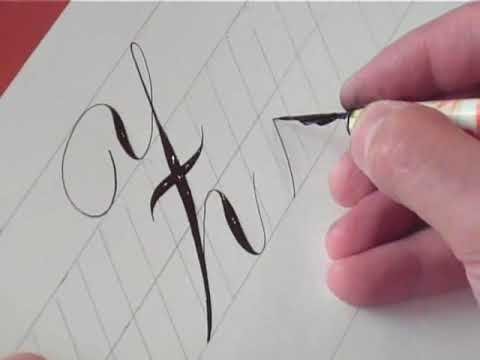 How To Write Copperplate The Letters Z And