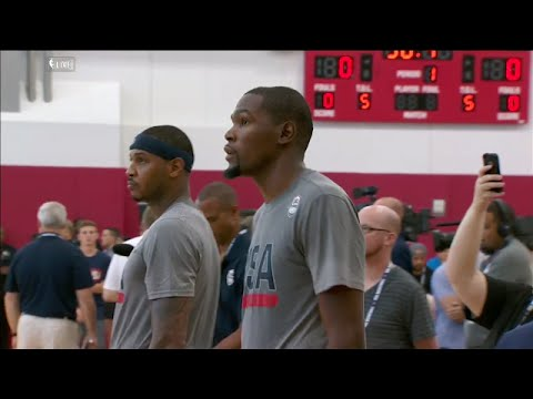 Grant Hill & Steve Smith talk about Kevin Durant | Team USA Basketball Training | July 19, 2016
