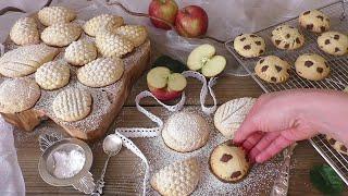 Nefis ELMALI Kurabiye Tarifi (tek hamur 4 farklı kurabiye Şekli eşliğinde  )