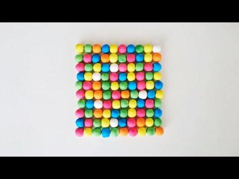 bricolage enfant fabriquer un dessous de plat avec des boules de cotillon youtube. Black Bedroom Furniture Sets. Home Design Ideas