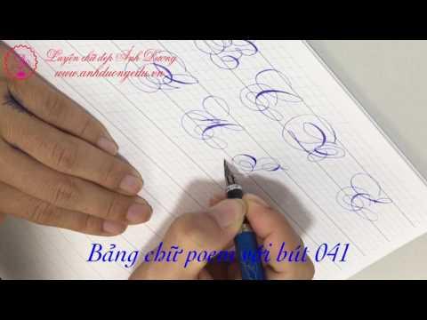 Bảng chữ poem với bút 041
