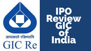 IPO Review - GIC of India