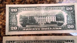 Old 20 Dollar Bill Vs New And Newest