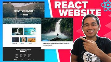 React Website Tutorial - Beginner React JS Project Fully Responsive