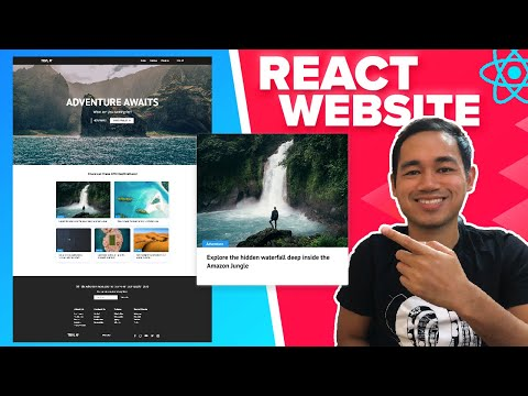 React Website Tutorial – Beginner React JS Project Fully Responsive