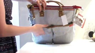 Skip Hop Duo Deluxe French Stripe Nappy Bag Review