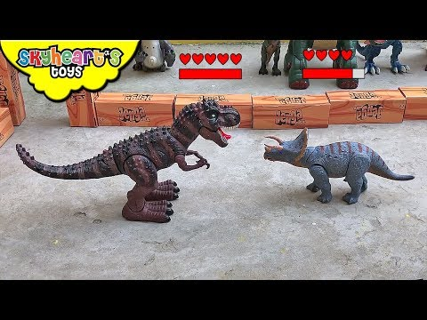 TRICERATOPS VS TREX Dinosaur Fight Tournament! Skyheart