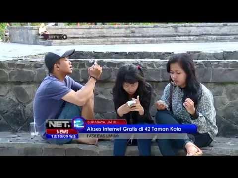 42 Taman di Kota Surabaya memiliki fasilitas internet gratis selama 24 jam - NET12