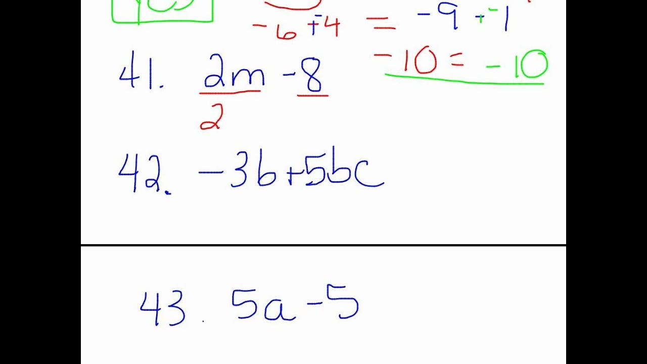 Grade 7 Algebra Unit Test - algebra 1 unit 4 test answers ...