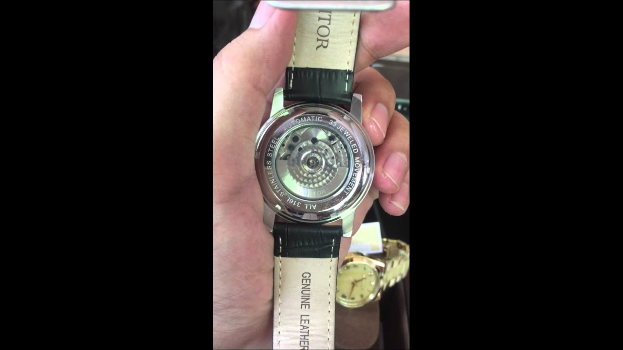 Youtube Automated Cms By Teedeskdev: Heritor Piccard Black Dial Black Leather Automatic Mens