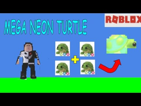 Making A Mega Neon Turtle In Adopt Me Roblox Youtube