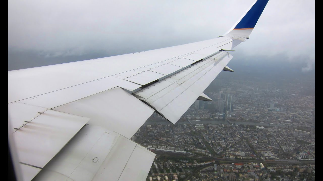United 767-300WL Bumpy Approach, Landing and Taxi at Frankfurt Airport!