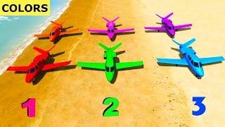 Apprendre Les Couleurs Et Les Chiffres Pour Les Enfants Avec Avion Et Super-héros