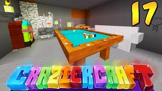 "Minecraft Crazier Craft #17 ""MAN CAVE / FINISHED HOUSE!"""