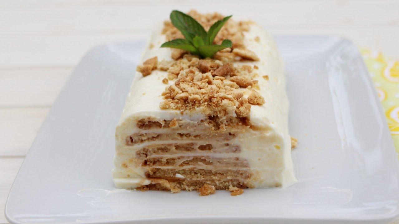 TARTA DE LIMÓN Y GALLETAS ¡Sin Horno ni Gelatina! | Tarta con 5 ingredientes