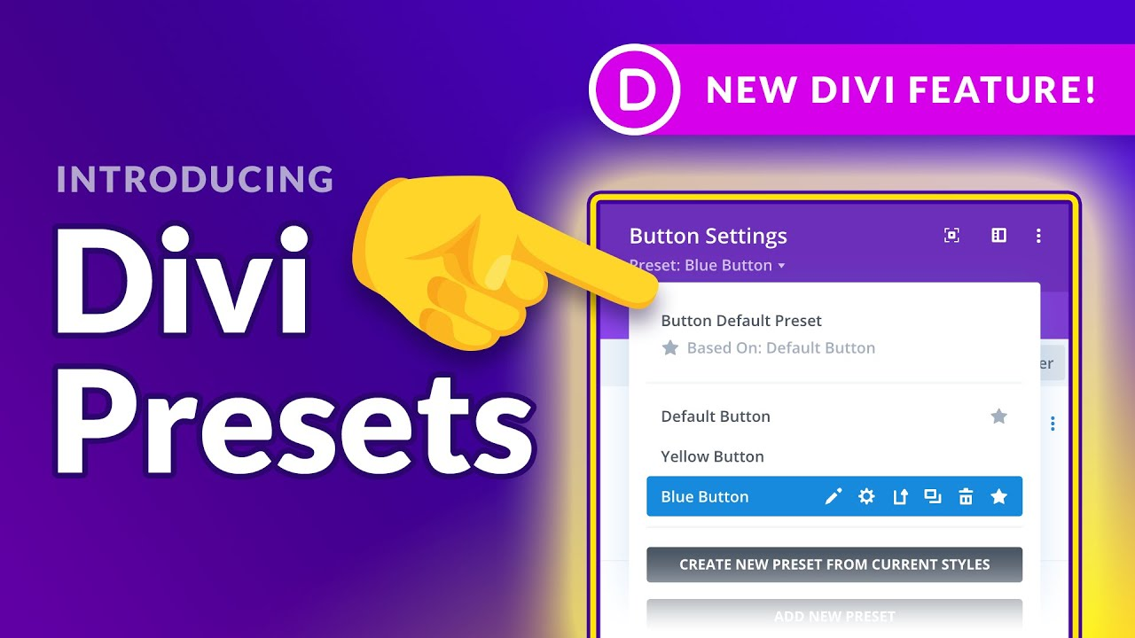 Introducing Divi Presets, The Game Changing Divi Design System!