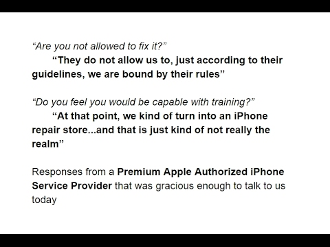 What is the difference between Apple Authorized iPhone Repair and Independent Repair? - Varighed: 1:03:27.