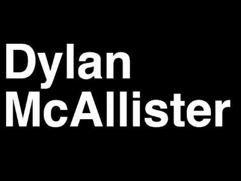 How to Pronounce Dylan McAllister Breidablik Football Goal Penalty Kick Yellow Red Card Injury