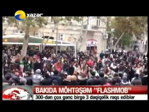 Madagascar Flashmob on XAZAR TV  FLASHMOB Azerbaijan