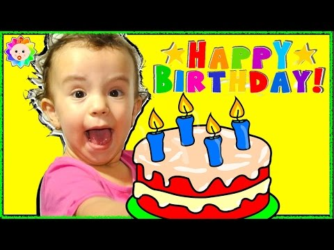 Thumbnail: Happy Birthday to You Song Singing by funny real Baby Eva for Her Sister Bia Nursery rhymes songs