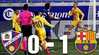 Huesca Vs Barcelona 0 1 La Liga 2021 Match Review Youtube