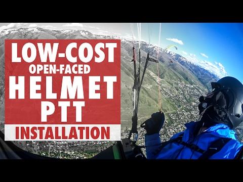 Low-Cost Open-Faced Helmet PTT Headset Installation