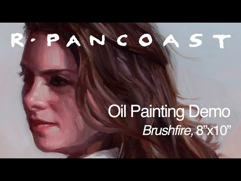 "Oil Painting Demonstration: Brushfire, Oil on board 8""x10"""