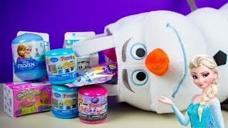 Frozen Surprise Olaf Stocking Fashems Unicorno Shopkins Season 4 Disney Toys Kinder Playtime