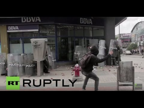 Colombia: Protesters clash with police in Bogota on May Day