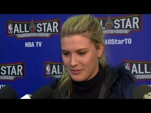 NBA All-Star Celebrity Game: Eugenie Bouchard  - February 12, 2016
