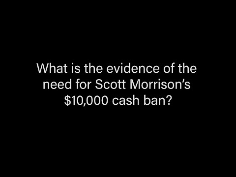 What's The Evidence Of The Need For Morrison's Cash Ban?