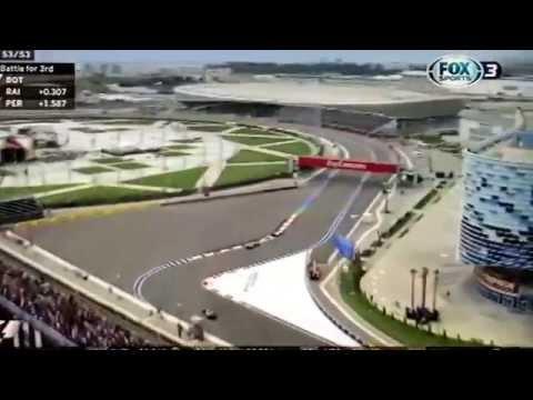 Podio de Checo Perez en el GP de Rusia. (Últimas vueltas)