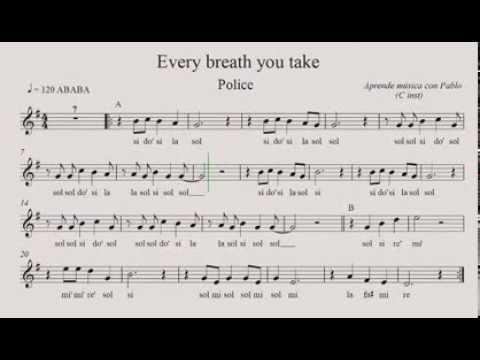 EVERY BREATH YOU TAKE: (flauta, violín, oboe ...