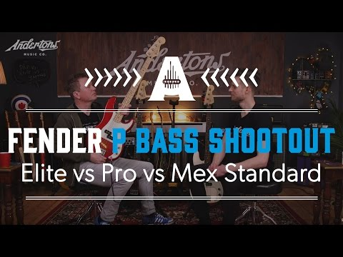 Fender Precision Bass Shootout - Elite vs Pro vs Mex Standard