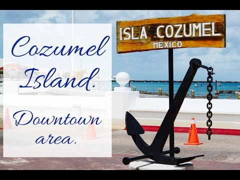Cozumel things to do on the island. Tour, trip around downtown area of Cozumel Mexico.
